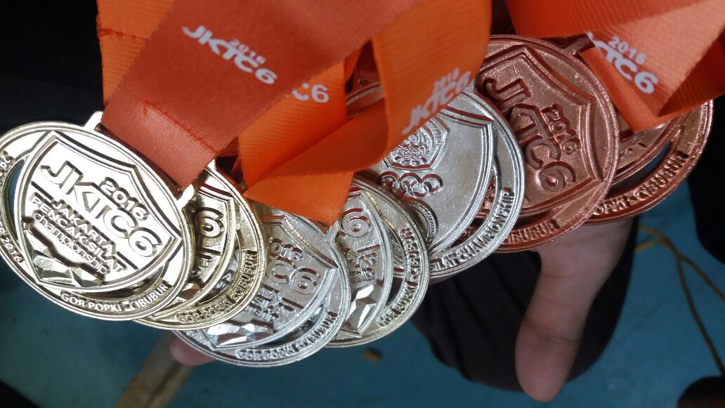 Medali Cabor Pencak Silat Jakarta - Singapura